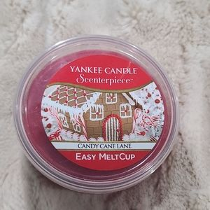 NWT Yankee Candle Candy Cane Lane Scenterpiece Cup